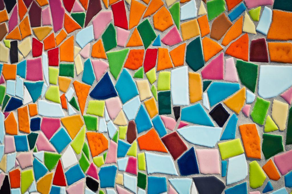 Mosaïque multicolore