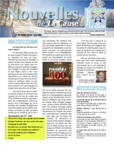 Nouvelles de La Cause 501
