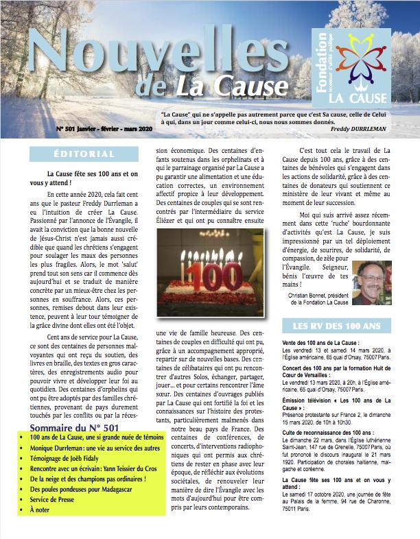 Les Nouvelles de La Cause n° 5°1
