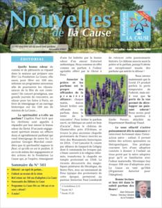 Page de couverture des Nouvelles de La Cause - été 2020